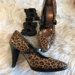 Sofft Leopard Sz 10 Mary Jane pumps